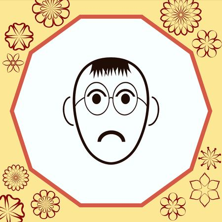 cheeky: Angry little boy Icon.