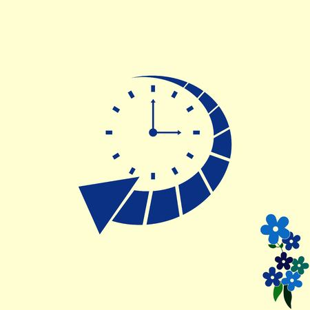 working hours: Clock Icon, vector illustration
