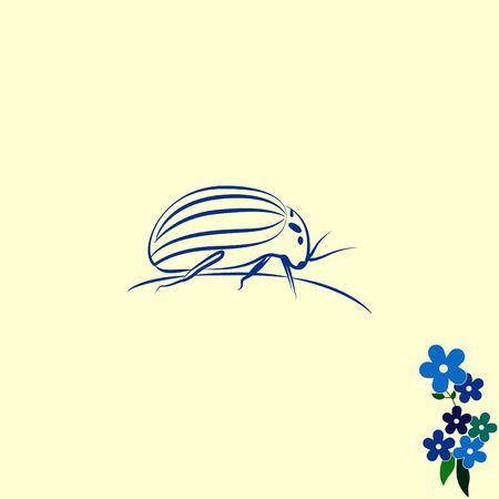 icon: Spider icon. Wasp icon. Fly icon, vector illustration. Illustration