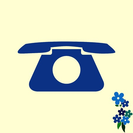 phone icon: The handset, phone icon , vector illustration. Illustration