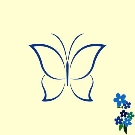 icon: Butterfly icon, vector illustration. Illustration