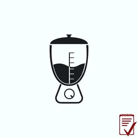 Home appliances icon. blender icon,  Flat Icon of mixer.  Vector illustration. Kitchenware.