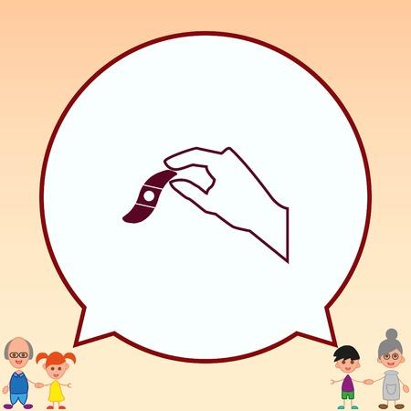 Bandage plaster vector icon. Illustration