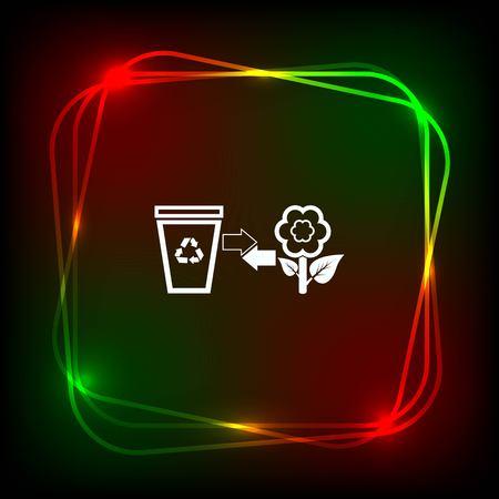 Legen Sie Papierkorb-Symbol, Recycling-Symbol. Wohnung Vektor-Illustration