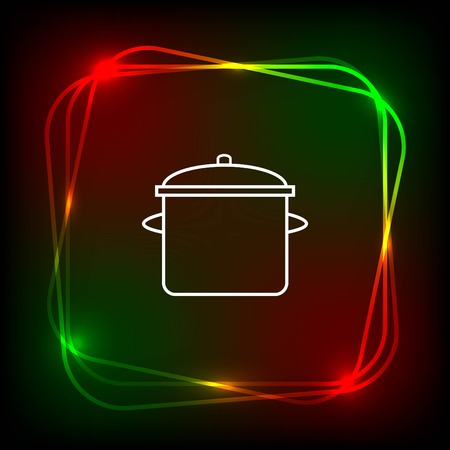 casserole: Home appliances icon. pan icon. Vector illustration. Illustration