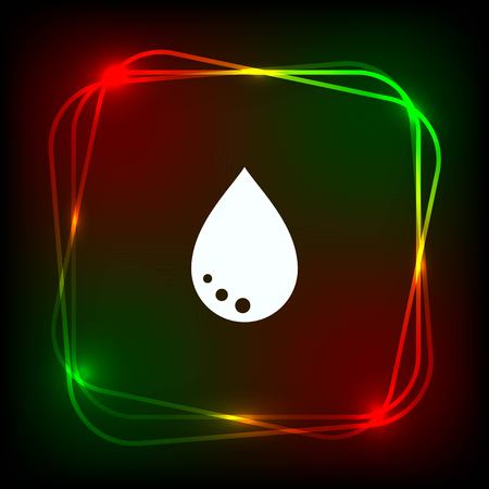 watery: Drop icon.  Flat Vector illustration Illustration