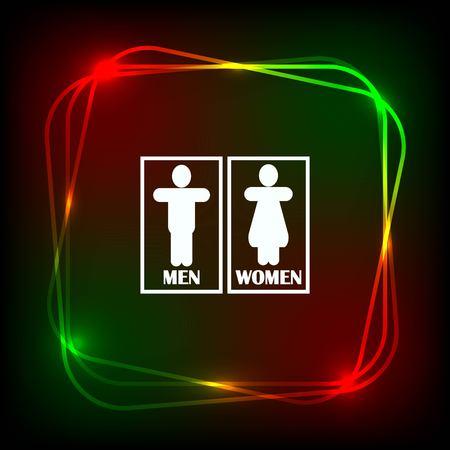 Restroom icon, vector illustration