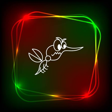 Mosquito icon. Leech icon. Wasp icon. Fly icon, vector illustration.