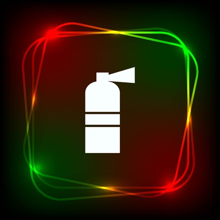 inflammable: Fire extinguisher icon.