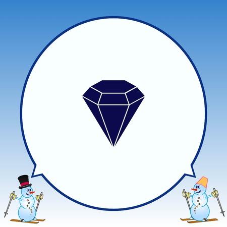 salarios: Diamond icon. Finance Icon, vector illustration. Flat design style. Vectores