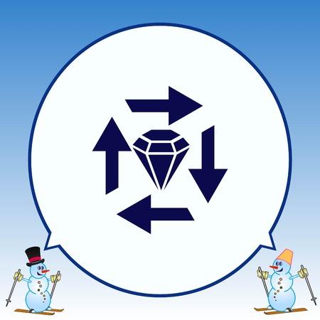 bribe: Diamond icon. Finance Icon, vector illustration. Flat design style. Illustration