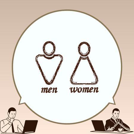 Toilette Symbol, Vektor-Illustration