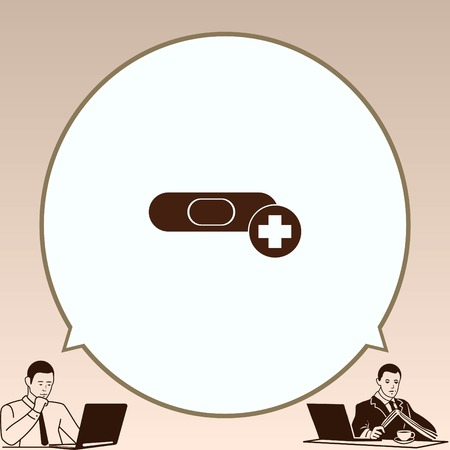 Bandage plaster vector icon. Illustration