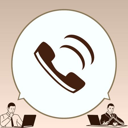 The handset, phone icon , vector illustration. Illustration