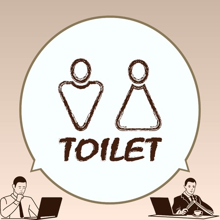 Restroom icon, vector illustration