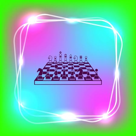 icon chess pieces, vector illustration. Illustration