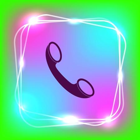 customer service phone: The handset, phone icon , vector illustration. Illustration