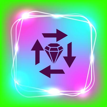 sell: Diamond icon. Finance Icon, vector illustration. Flat design style. Illustration