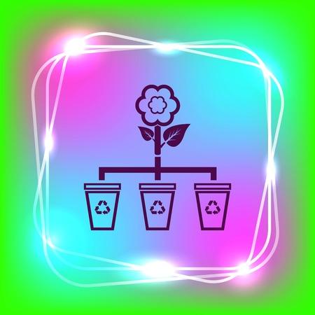 basurero: Throw away the trash icon, recycle icon Vectores