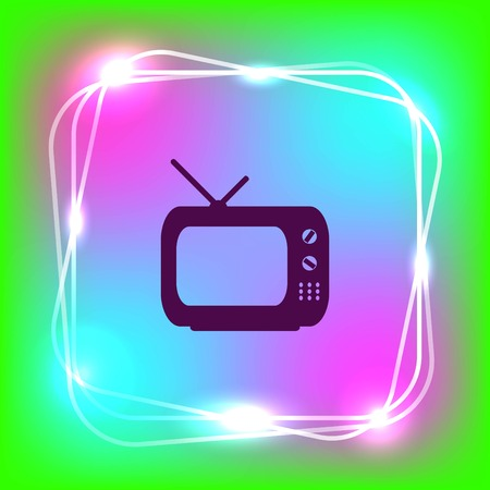 Home appliances icon. TV icon. Vector illustration.