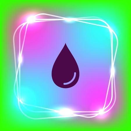 Drop icon.  Flat Vector illustration Illustration