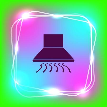 modern kitchen: Home appliances icon. Kitchen hood icon. Vector illustration. Illustration