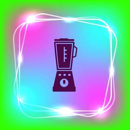 Home appliances icon. blender icon,  Flat Icon of mixer.  Vector illustration. Kitchenware.