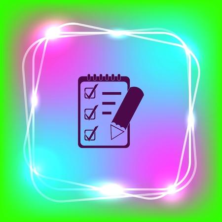 grafit: Notebook icon, vector illustration.
