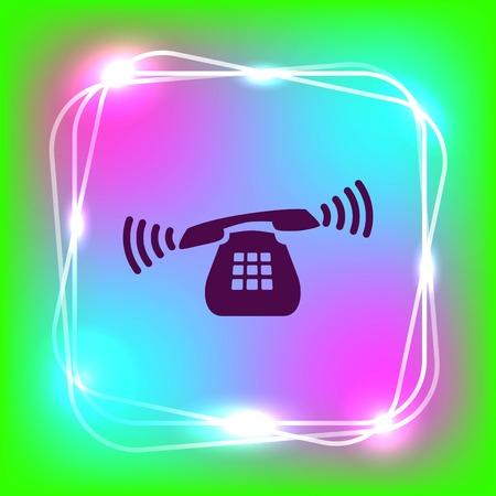Das Mobilteil, Telefon-Symbol, Vektor-Illustration.
