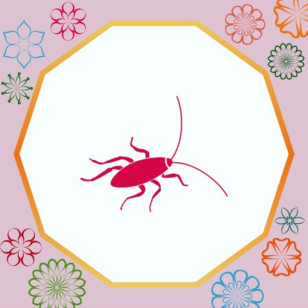 Cockroach icon, pest icon, vector illustration. Illustration