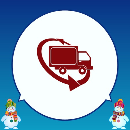 lorries: Delivery sign icon, vector illustration. Illustration