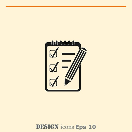 Notebook icon, vector illustration.