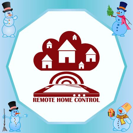 Smart home in the cloud concept symbol vector illustration