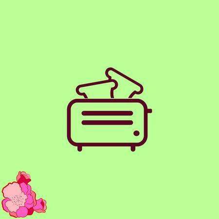 Home interior design , Kitchen , Toaster icon., vector illustration. Flat design style.