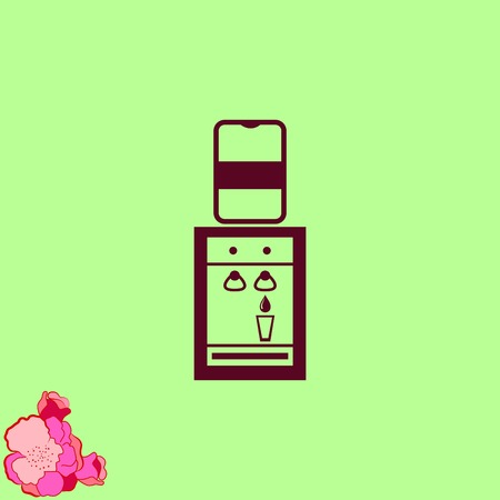 Wasser-Kühler-Symbol, Vektor-Illustration. Lizenzfrei Nutzbare ...