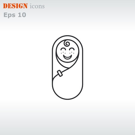 baby icon, Child icon, vector illustration. Flat design style