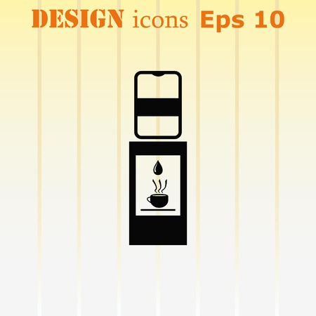 Water Cooler icon, vector illustration.