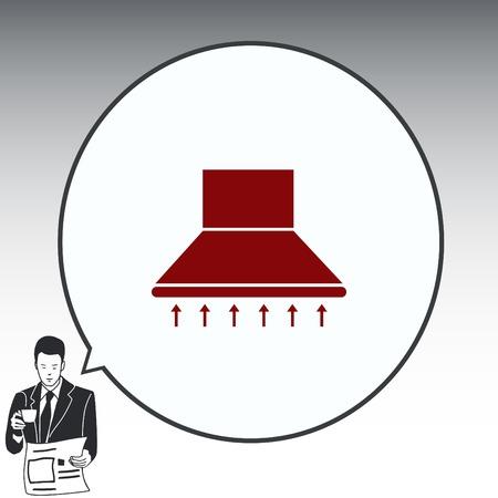 range hood: Home appliances icon. Kitchen hood icon. Vector illustration. Illustration