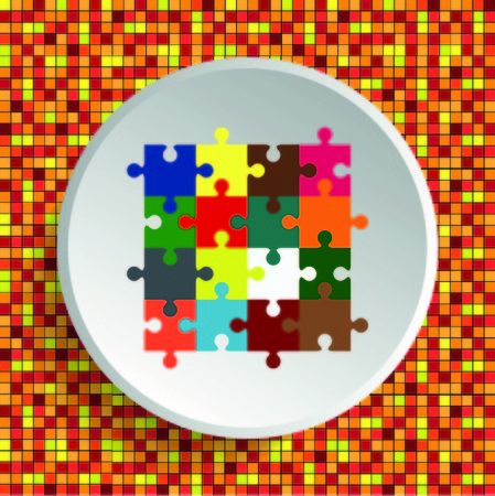 Puzzle, vector illustration.