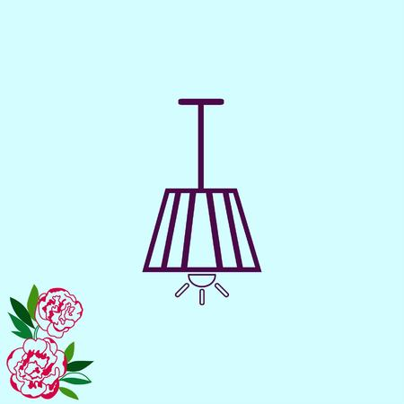 desk lamp: Home appliances icon. Table lamp, floor lamp, chandelier icon. Vector illustration. Illustration