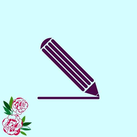 grafit: Pencil icon, vector illustration Ilustracja