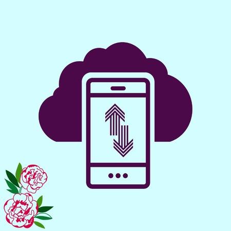 old phone: The handset, phone icon , vector illustration. Illustration