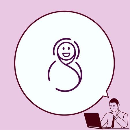 baby icon, Child icon, vector illustration. Flat design style. Illustration