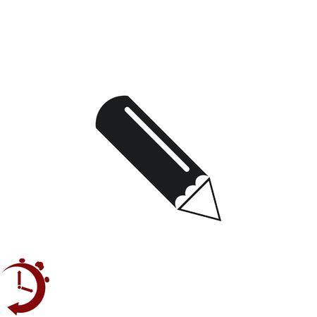 grafit: ikona ołówka, ilustracji wektorowych