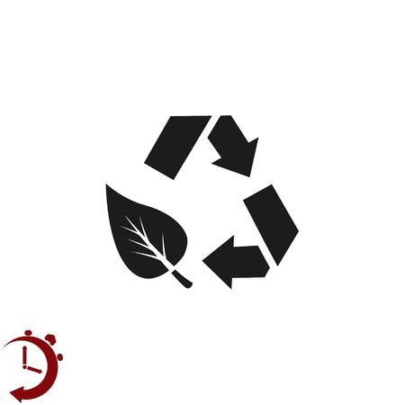 Recycling trash Concept of ecology problem on Flat Vector illustration.