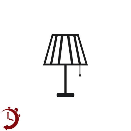 modern living room: Home appliances icon. Table lamp, floor lamp, chandelier icon. Vector illustration. Illustration