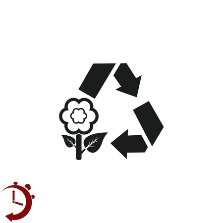 Place trash icons, recycle icon