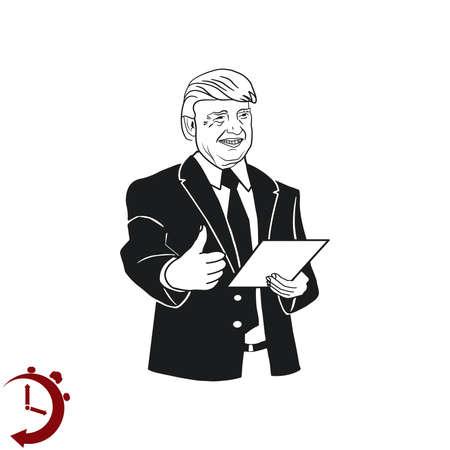 presidential: USA presidential election Donald Trump, vector illustration, Editorial use only