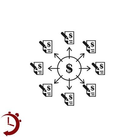Money icon vector illustration Flat on design style.