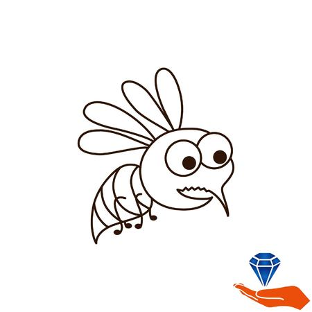 pest control: Mosquito icon. Leech icon. Wasp icon. Fly icon, vector illustration.